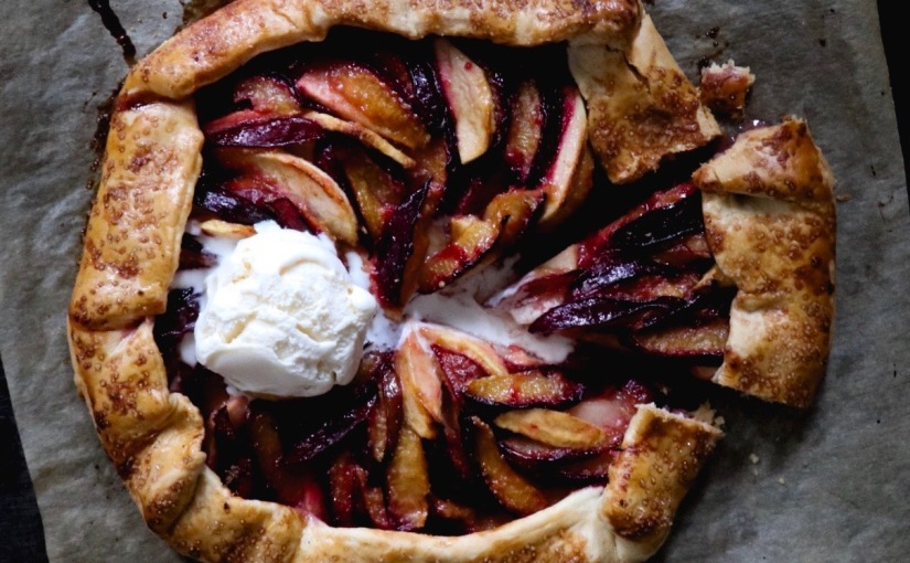 Autumn Plum and Apple Galette