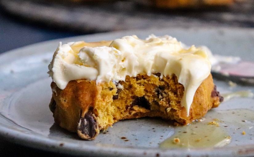 Cinnamon and Pumpkin Scones with Dark Chocolate Chips